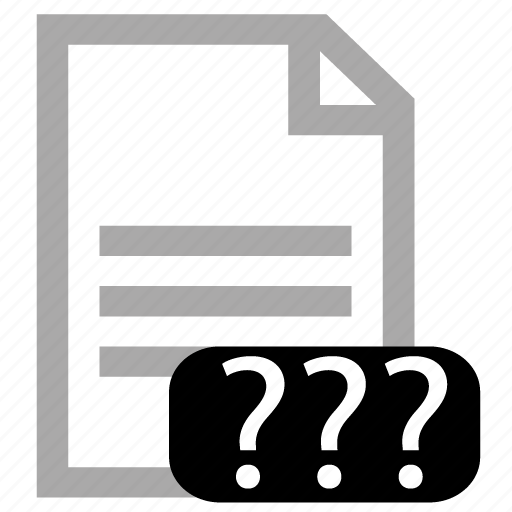 file, type, unknown icon