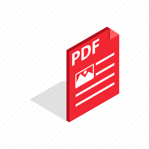 document, file, format, internet, isometric, page, pdf icon