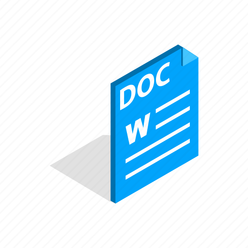 Doc, document, element, file, format, isometric, page icon - Download on Iconfinder