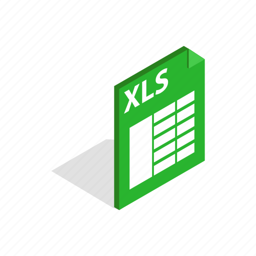 app, business, file, internet, isometric, website, xls icon