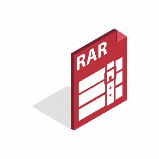 Archive, document, download, file, graphic, isometric, rar icon - Download on Iconfinder