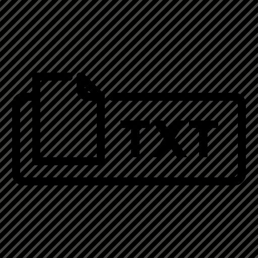 document, file, label, text, txt icon