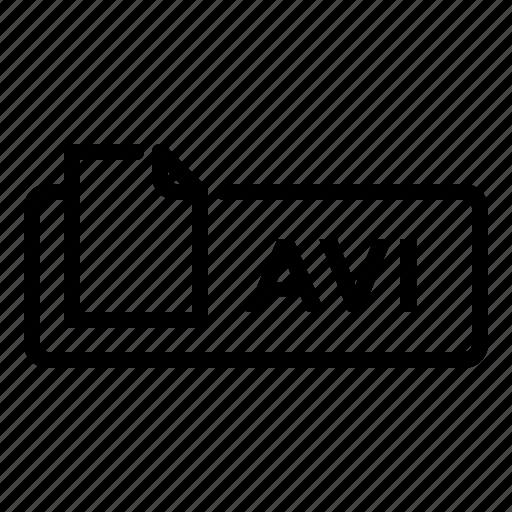 avi, document, file, label, movie, video icon