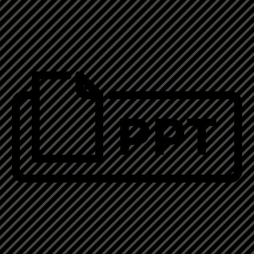 document, file, label, powerpoint, ppt, presentation, slideshow icon