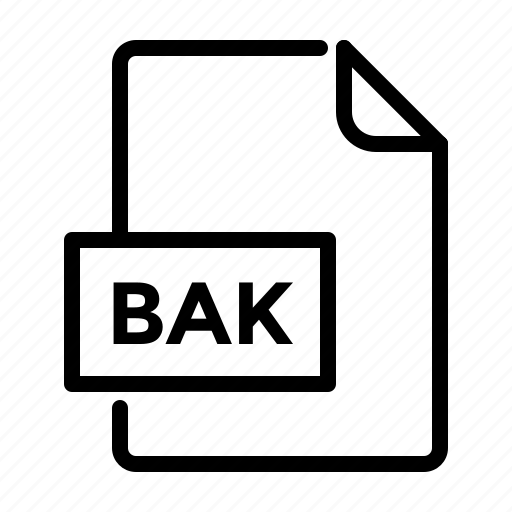 backup, bak, document, file, label icon
