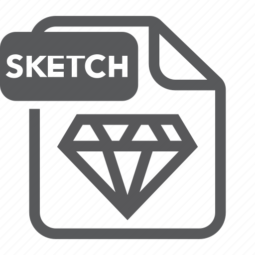 document, extension, file, format, sketch icon