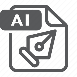 ai, document, extension, file, format, illustrator, type icon