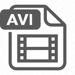 avi, document, extension, file, format, movie, type icon