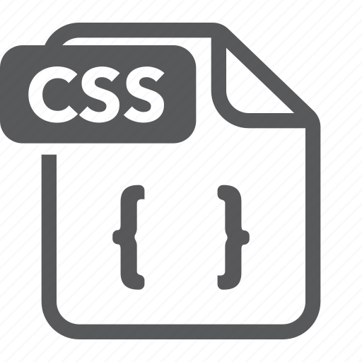 css, document, extension, file, format, type icon