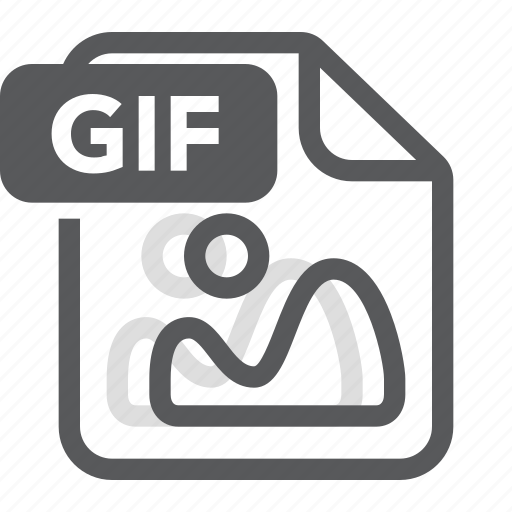 document, extension, file, format, gif, image, type icon
