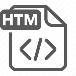 document, extension, file, format, html, type icon