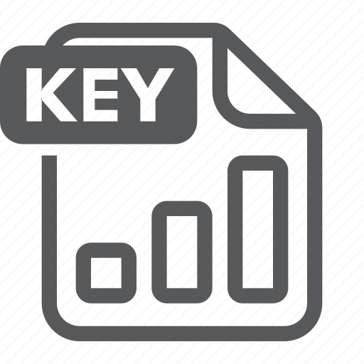 document, extension, file, format, key, keynote, type icon