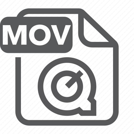 document, extension, file, format, mov, movie, type icon