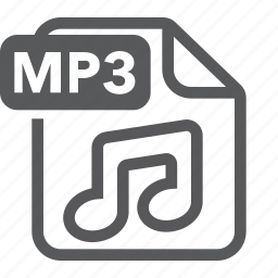 document, extension, file, format, mp3, music, type icon