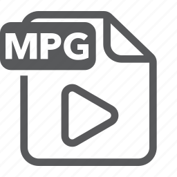 document, extension, file, format, movie, mpeg, type icon