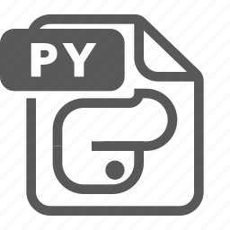 document, extension, file, format, py, pyhton, type icon