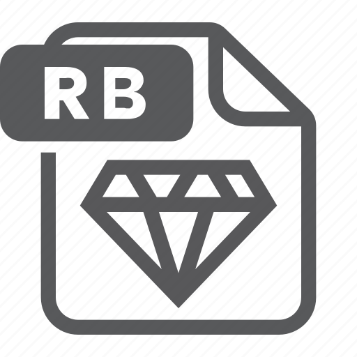 document, extension, file, format, rb, ruby, type icon