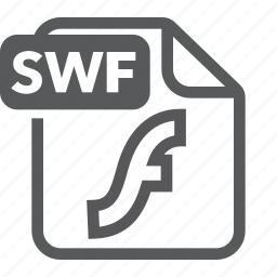 document, extension, file, flash, format, swf, type icon