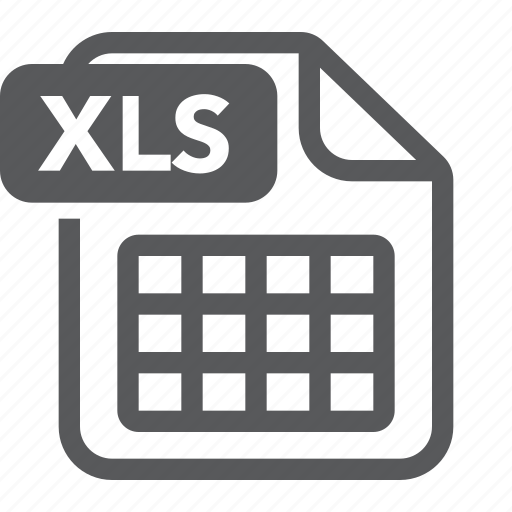 document, extension, file, format, type, xls icon