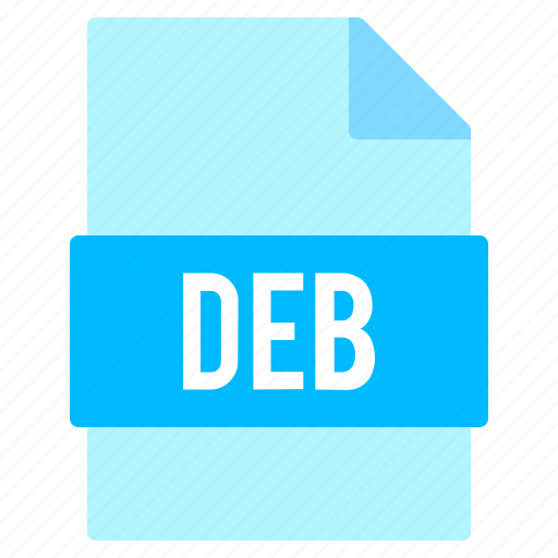 deb, document, extension, file, format icon