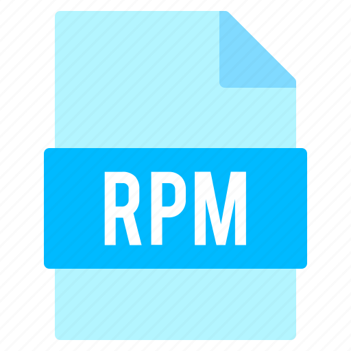 document, extension, file, format, rpm icon