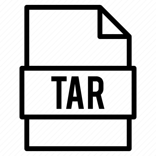 document, extension, file, format, tar icon