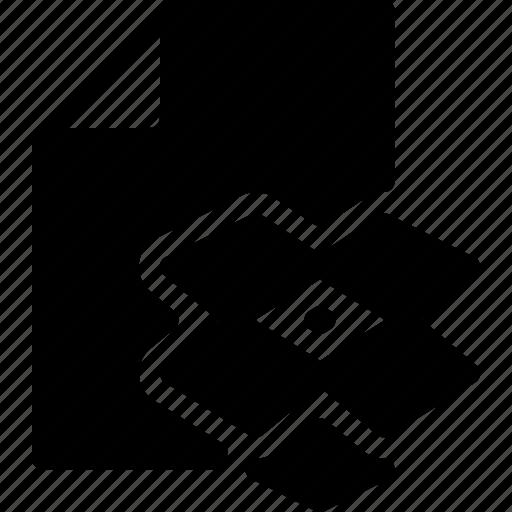 document, dropbox, file, folder, format icon