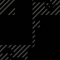 documents, files, folder, format, syncronize icon