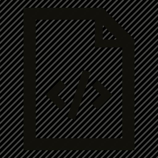 code, document, file, program, source code, source file, xml icon