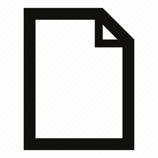document, empty, empty file, file, new file icon