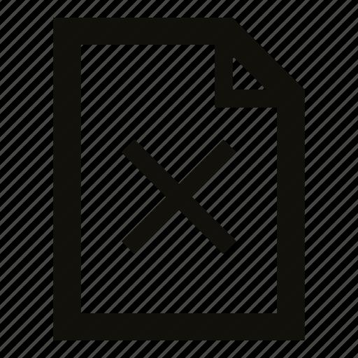 delete, document, erase, file, remove, wrong file icon