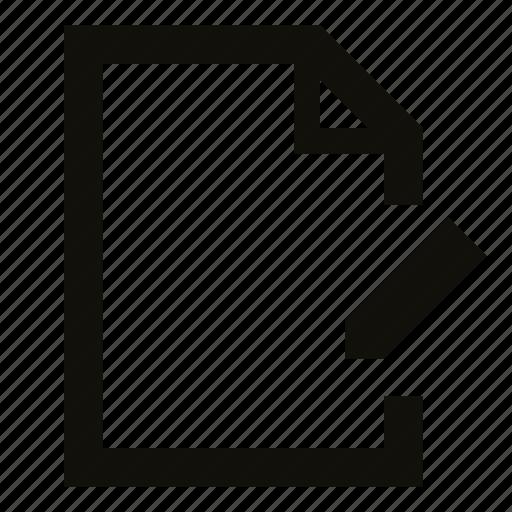 change, document, edit, file, pencil, rename, set name icon
