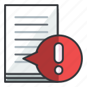 alert, document, file, files, warning icon