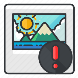 alert, file, files, image, warning icon