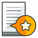bookmark, document, file, files, star icon