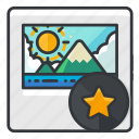 bookmark, file, files, image, star icon