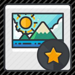 bookmark, file, files, image, star icon