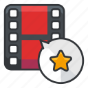 bookmark, file, files, media, star, video icon