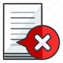 cancel, document, file, files, remove icon