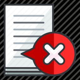 cancel, document, file, files, remove icon