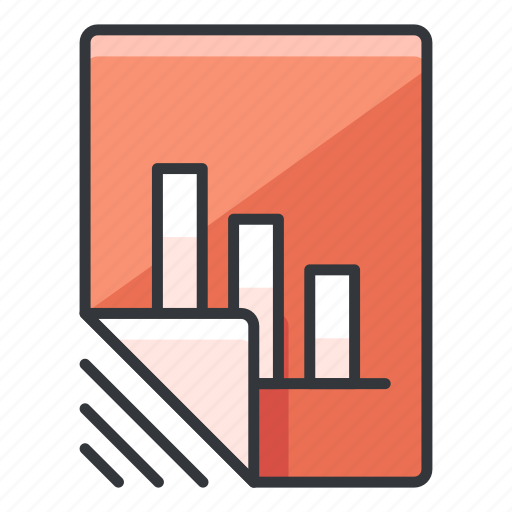 chart, document, file, files, graph icon