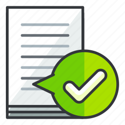 approve, checkmark, confirm, document, file, files icon