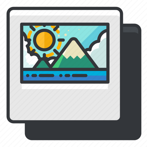 duplicate, file, files, image, media, multimedia icon