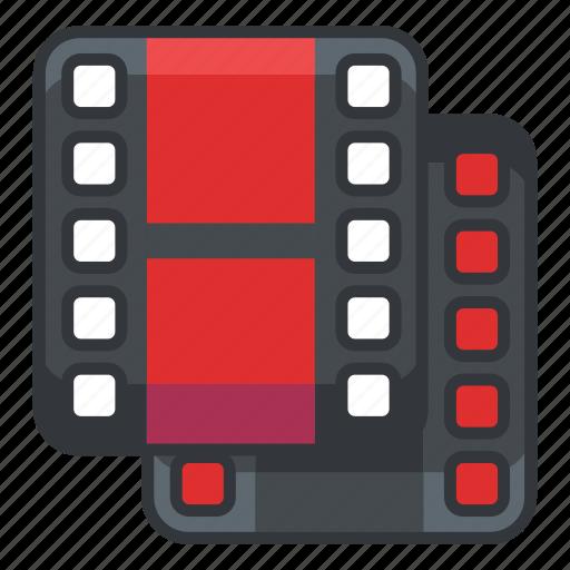 duplicate, file, files, multimedia, video icon