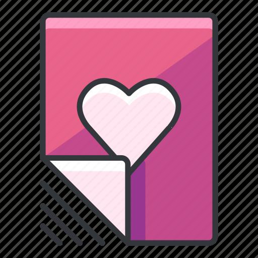 document, favourite, file, files, heart icon