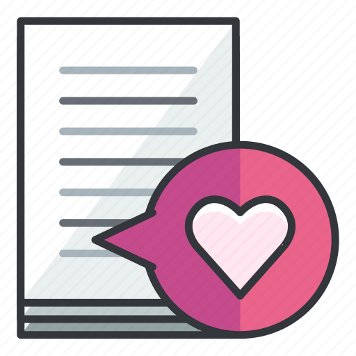 document, favourite, file, files, heart icon