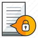 document, file, files, lock, security icon