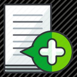 add, document, file, files, new icon