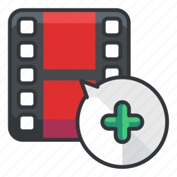 add, file, files, multimedia, new, video icon