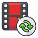 arrow, arrows, file, files, refresh, video icon